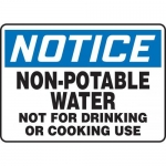"""Accuform MCAW805XF10, OSHA Notice Safety Sign """"Non-Potable Water…"""""""