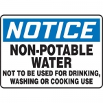 """Accuform MCAW809XF10, OSHA Notice Safety Sign """"Non-Potable Water…"""""""