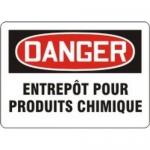 """Accuform MCCH167XT10, OSHA Danger Safety Sign """"Entrepot Pour…"""""""