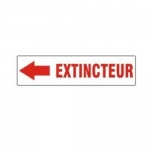 Accuform MCFX554XV10, French Extinguisher Sign with Arrow Dura-Vinyl