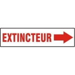 Accuform MCFX577XV10, French Extinguisher Sign with Arrow Dura-Vinyl