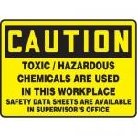 "Accuform MCHC799XT10, OSHA Caution Safety Sign ""Toxic / Hazardous…"""