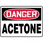"Accuform MCHG003XL10, OSHA Danger Safety Sign ""Acetone"" Aluma-Lite"