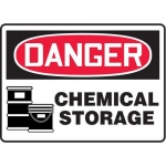 "Accuform MCHG021VP10, OSHA Danger Safety Sign ""Chemical Storage"""