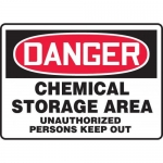 "Accuform MCHG022VP10, OSHA Safety Sign ""Chemical Storage Area…"""