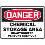 "Accuform MCHG022XT10, OSHA Safety Sign ""Chemical Storage Area…"""