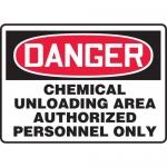 "Accuform MCHG023XT10, OSHA Danger Safety Sign ""Chemical Unloading…"""