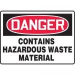 "Accuform MCHG024XT10, OSHA Danger Safety Sign ""Contains Hazardous…"""