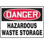 "Accuform MCHG029XP10, OSHA Safety Sign ""Hazardous Waste Storage"""