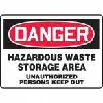 "Accuform MCHG030XP10, OSHA Safety Sign ""Hazardous Waste Storage…"""