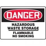 "Accuform MCHG031XP10, OSHA Safety Sign ""Hazardous Waste Storage…"""