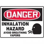 """Accuform MCHG037XT10, OSHA Danger Safety Sign """"Inhalation Hazard…"""""""
