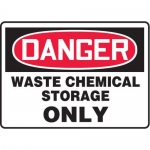 "Accuform MCHG044VP10, OSHA Safety Sign ""Waste Chemical Storage Only"""