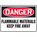 """Accuform MCHG066XT10, OSHA Danger Safety Sign """"Flammable Materials…"""""""