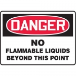 "Accuform MCHG072XT10, OSHA Safety Sign ""No Flammable Liquids…"""