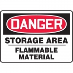 "Accuform MCHG074XT10, OSHA Danger Safety Sign ""Storage Area…"""