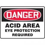 "Accuform MCHG084XT10, OSHA Danger Safety Sign ""Acid Area…"""