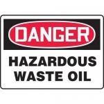 "Accuform MCHG091XP10, OSHA Danger Safety Sign ""Hazardous Waste Oil"""
