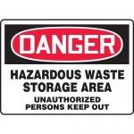 "Accuform MCHG100XP, Safety Sign ""Hazardous Waste Storage Area…"""