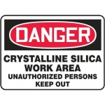 "Accuform MCHG144XT, Danger Safety Sign ""Crystalline Silica Work…"""