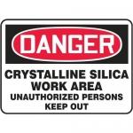 "Accuform MCHG145XT, Danger Safety Sign ""Crystalline Silica Work…"""