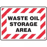 """Accuform MCHG506XP10, Safety Sign """"Waste Oil Storage Area"""" Accu-Shield"""