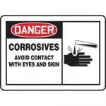 "Accuform MCHL002XF10, OSHA Danger Safety Sign ""Corrosives…"""
