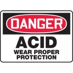 "Accuform MCHL011XT10, OSHA Danger Safety Sign ""Acid – Wear…"""