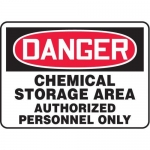 "Accuform MCHL023VP10, OSHA Danger Safety Sign ""Chemical Storage…"""