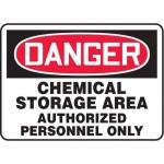 "Accuform MCHL023XT10, OSHA Danger Safety Sign ""Chemical Storage…"""