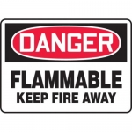"""Accuform MCHL050XT10, OSHA Safety Sign """"Flammable – Keep Fire Away"""""""