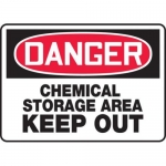 "Accuform MCHL051VP10, OSHA Danger Safety Sign ""Chemical Storage…"""