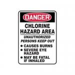 "Accuform MCHL058XT10, Danger Safety Sign ""Chlorine Hazard Area…"""
