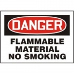 "Accuform MCHL060XT10, OSHA Danger Safety Sign ""Flammable Material…"""