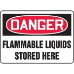 "Accuform MCHL062XT10, OSHA Danger Safety Sign ""Flammable Liquids…"""
