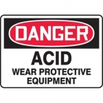 "Accuform MCHL065XT10, OSHA Danger Safety Sign ""Acid – Wear…"""