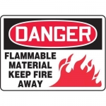 "Accuform MCHL067XT10, OSHA Danger Safety Sign ""Flammable Material…"""