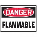 "Accuform MCHL069XL10, OSHA Danger Safety Sign ""Flammable"" Aluma-Lite"