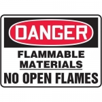 "Accuform MCHL070XT10, OSHA Danger Safety Sign ""Flammable Materials…"""