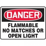 "Accuform MCHL076XT10, OSHA Danger Safety Sign ""Flammable…"""