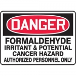 "Accuform MCHL079XT10, OSHA Safety Sign ""Formaldehyde Irritant…"""