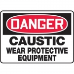 "Accuform MCHL093XT10, OSHA Danger Safety Sign ""Caustic – Wear…"""