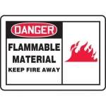"Accuform MCHL096XT10, OSHA Danger Safety Sign ""Flammable Material…"""