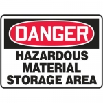 "Accuform MCHL100VP10, OSHA Danger Safety Sign ""Hazardous Material…"""