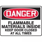 "Accuform MCHL101XT10, OSHA Danger Safety Sign ""Flammable Materials…"""