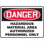 "Accuform MCHL102XT10, OSHA Danger Safety Sign ""Hazardous Material…"""