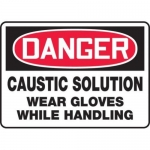 """Accuform MCHL109XP10, OSHA Danger Safety Sign """"Caustic Solution…"""""""