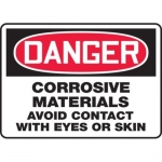"""Accuform MCHL118XF10, OSHA Danger Safety Sign """"Corrosive Materials…"""""""