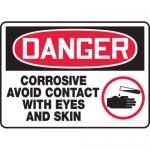 "Accuform MCHL120XF10, OSHA Danger Safety Sign ""Corrosive – Avoid…"""
