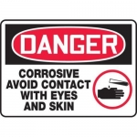 "Accuform MCHL120XT10, OSHA Danger Safety Sign ""Corrosive – Avoid…"""